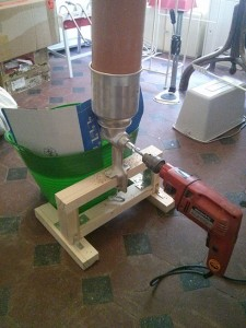 Corona malt mill electric drill